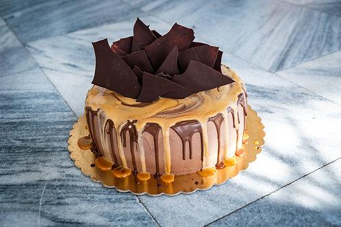 Čokoládový dort s čokoládovým mascarpone a višněmi