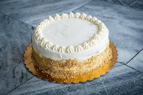 Mrkvový dort s vanilkovým mascarpone a tvarohem