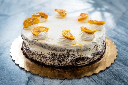 Makový dort (bezlepkový) s citronovým mascarpone