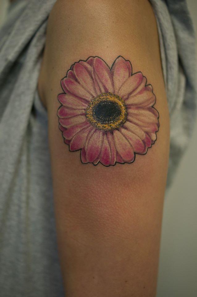 Gerbera Daisy Tattoo