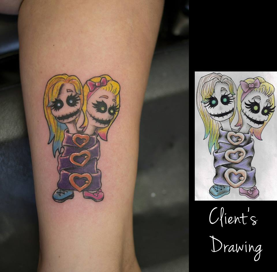 Twisted sisters tattoo