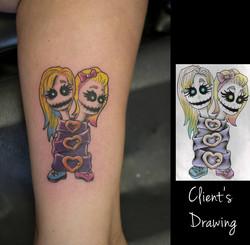 Twisted sisters tattoo