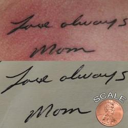 Mom handwriting tattoo