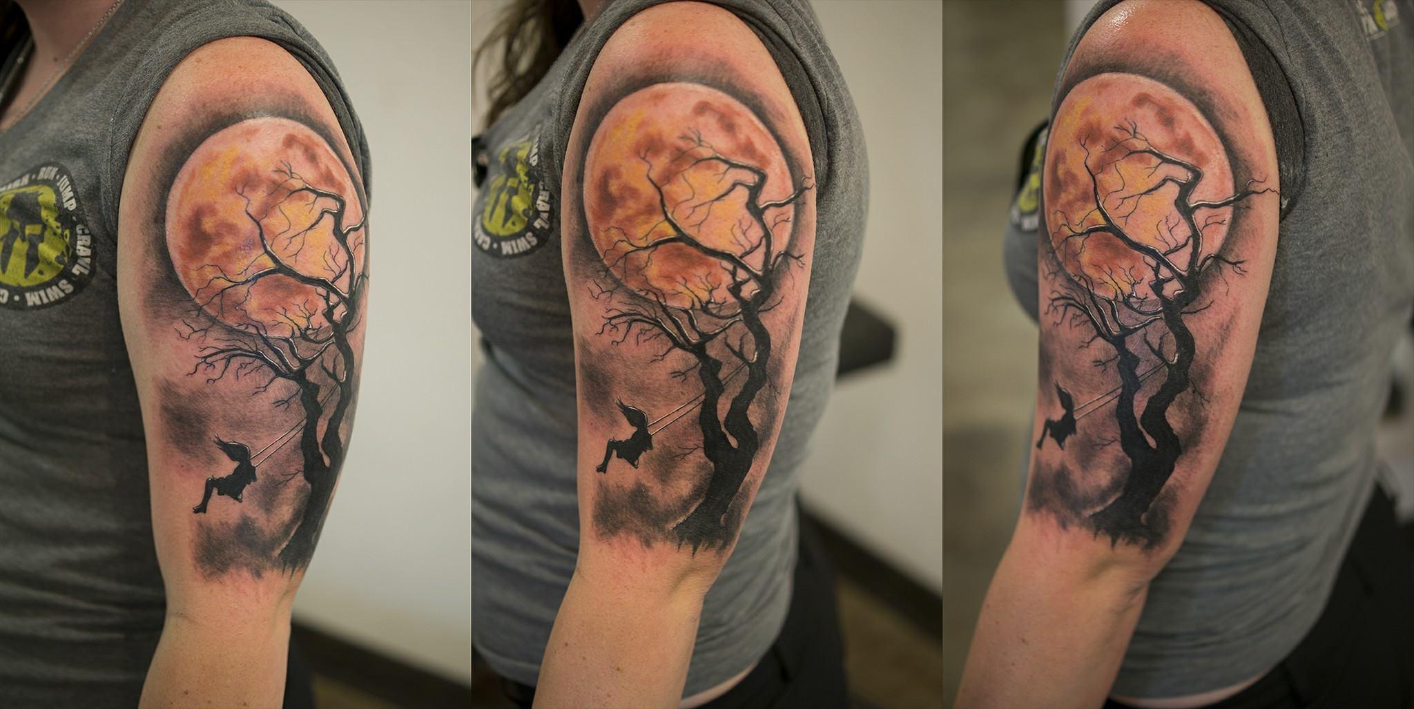Girl Silhouette Tattoo