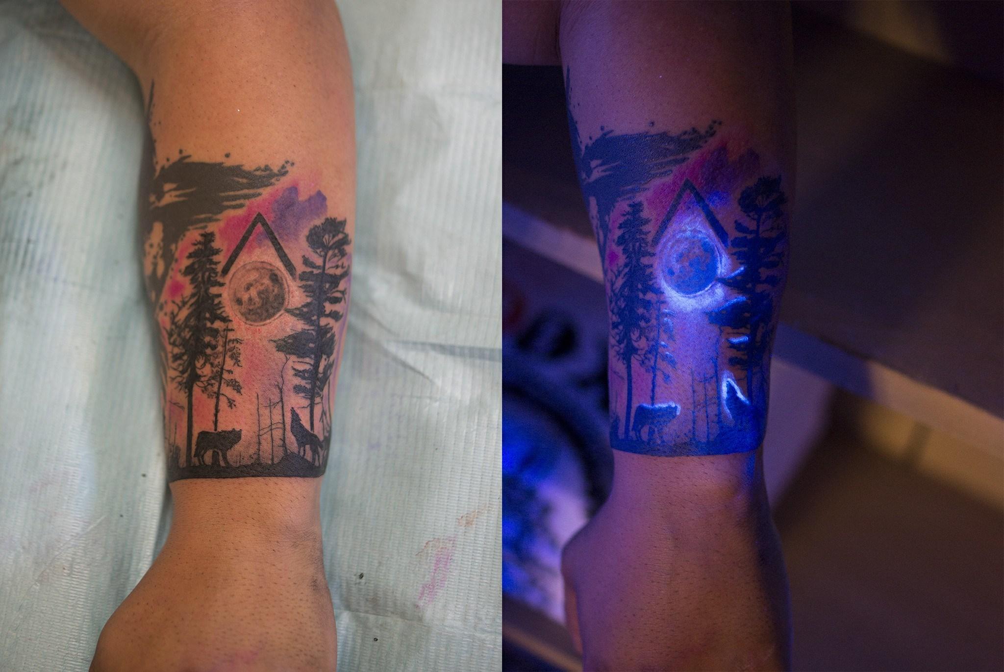 UV Light Tattoo