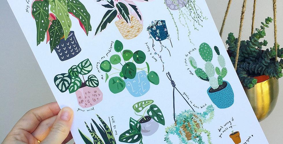 Plant wisdom print