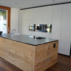 Einbauküche | Altholz | Insel | Hochschränke