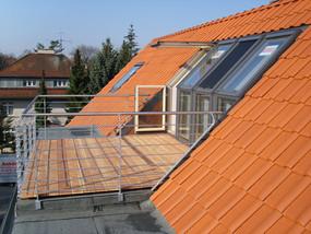 Spitzbodenausbau mit Dachterrasse in Hannover