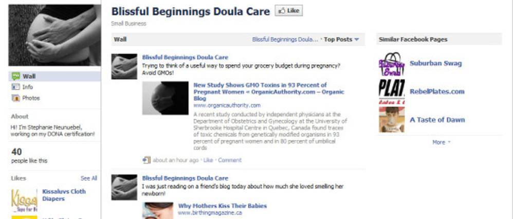 Blissful Beginnings Doula Services Screen Shot