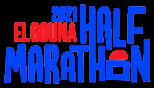 El Gouna Half Marathon 2021 - Blue Logo.