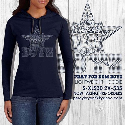 Pray for Dem Boyz Bling Hoodie