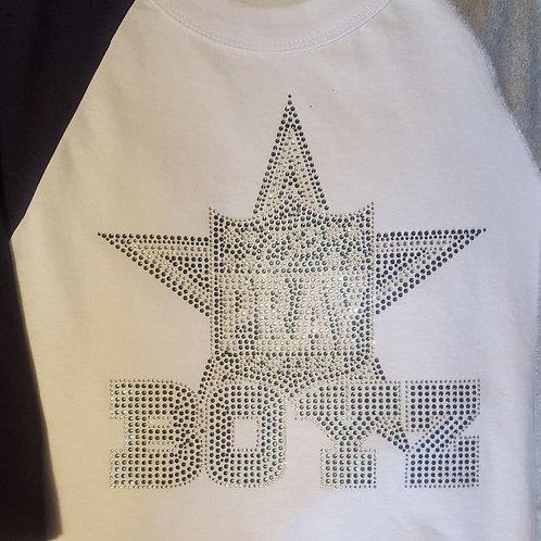 Pray for Dem Boyz Bling Baseball T