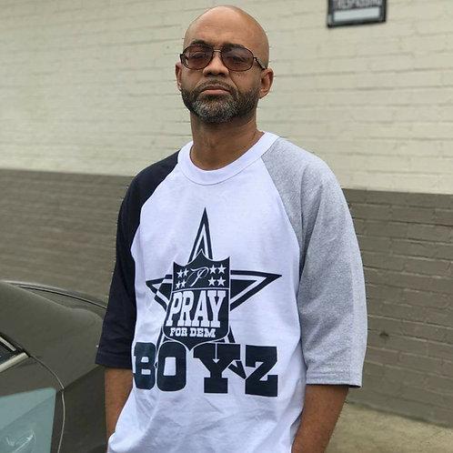"""3/4 Baseball """"Pray For Dem Boys"""" T-Shirt"""