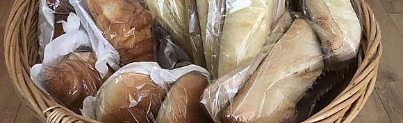 Freshly baked bread, croissants and rolls