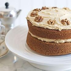 6 inch Coffee and Walnut Cake