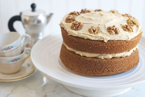 7 inch Coffee and Walnut Cake - 7/8 servings