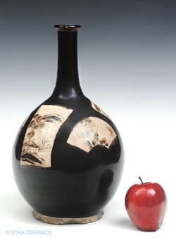 Seto brown vase