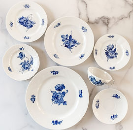 Royal Copenhagen Blue Flower Collection.