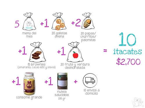 Paquete de 10 Itacates