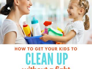 ¿Cómo hacer que tus hijos limpien sin pelear?