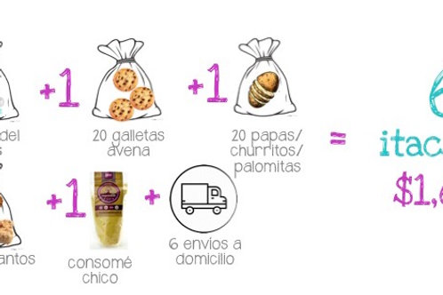 Paquete de 6 Itacates
