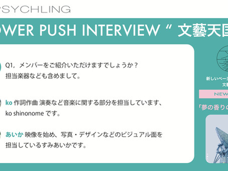 PSYCHLING POWER PUSH INTERVIEW