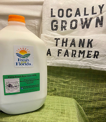 1 GALLON Raw Goat Milk (Pet Consumption Only Per Florida Law)