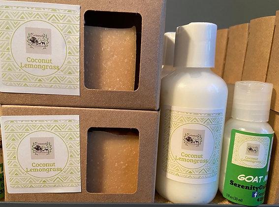 Coconut Lemongrass Goat Milk Soap