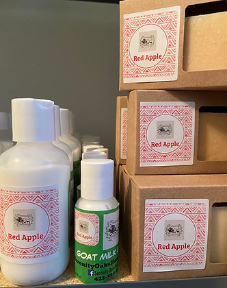 Red Apple Goat Milk Soap