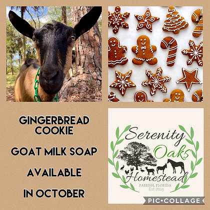 Gingerbread Cookie Goat Milk Soap