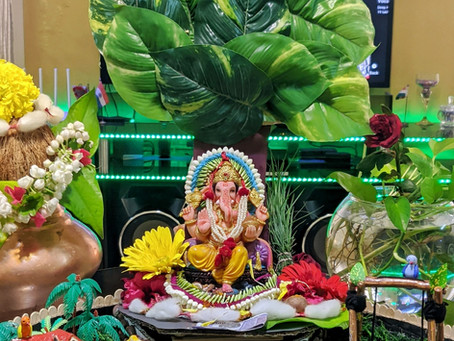 Eco-Friendly Decoration for Ganpati at Home