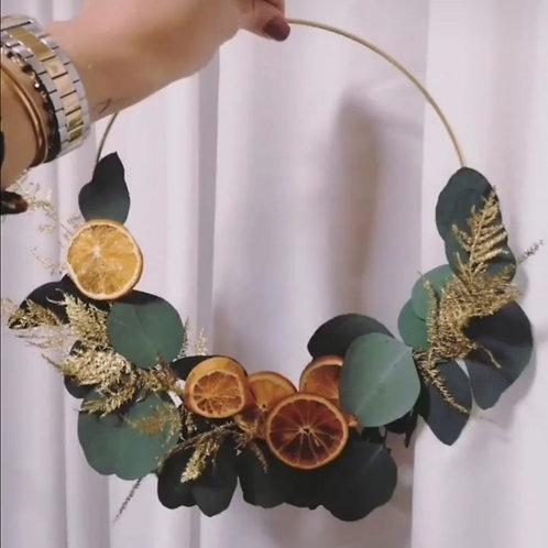 Kit couronne noël oranges séchées
