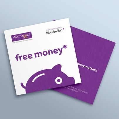 University of Manchester purple flyer mock-up