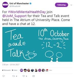 University of Manchester Twitter Post