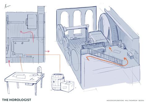 Horologist Concept Art - Interior 1