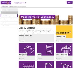University of Manchester web design