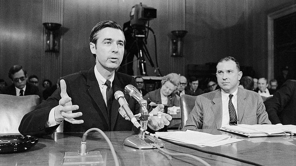 Rogers testifies in favor of PBS