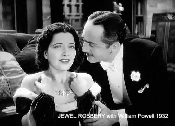 With WIlliam Powell in the sexy comedy, Jewel Robbery 1932