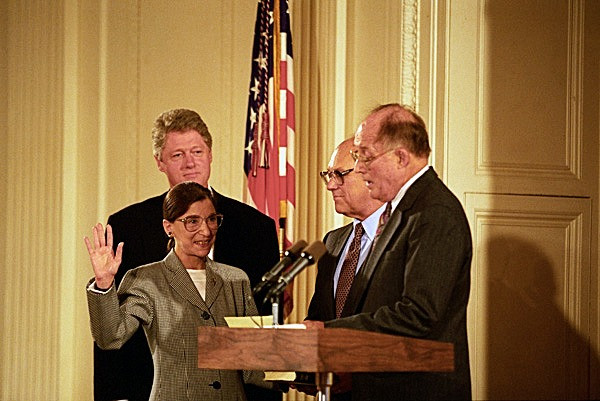 Justice Ginsburg is sworn in as a Supreme Court Justice