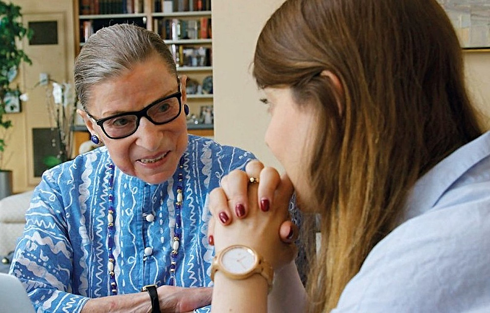Justice Ginsburg with her granddaughter