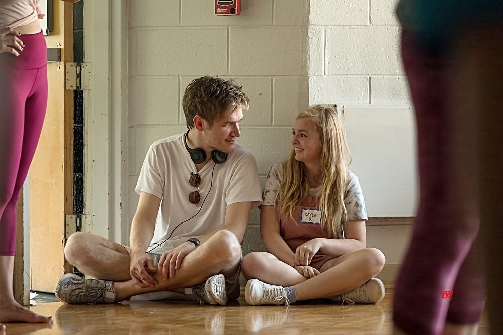 Director Bo Burnham with Elise Fisher