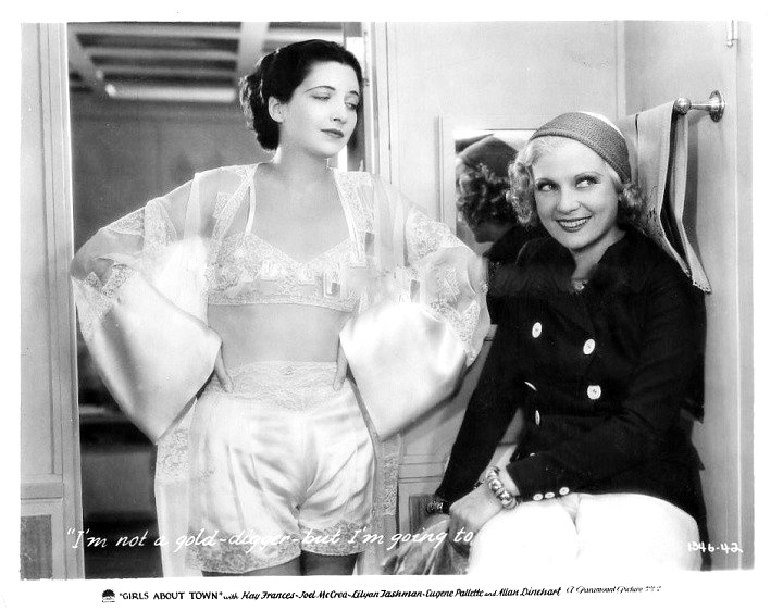 With Lilyan Tashman in Girls About Town 1931