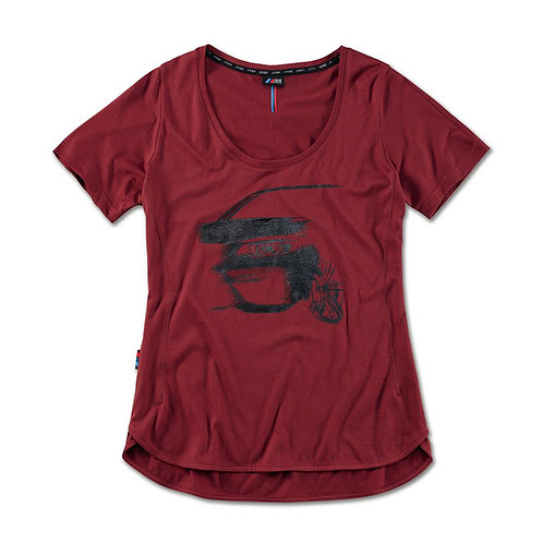 BMW M Graphic T-Shirt, ladies Bordeaux