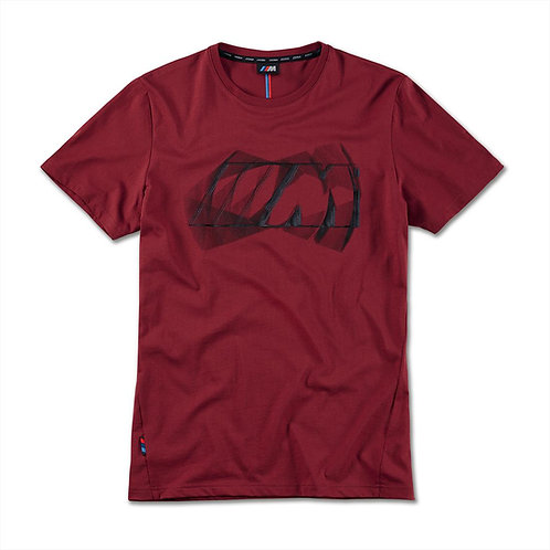 BMW M Logo T-Shirt, men Bordeaux