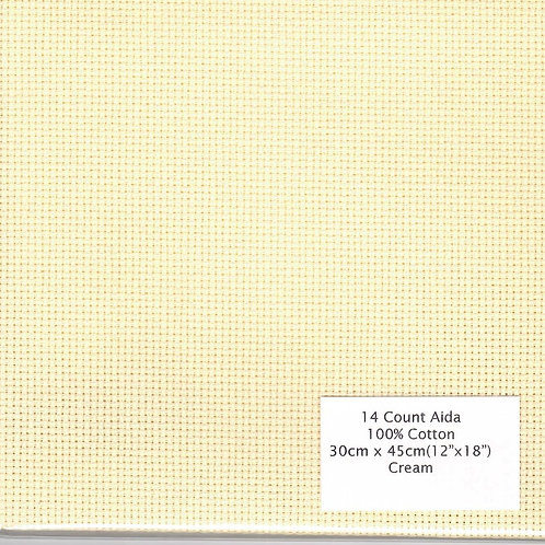 "14 Count Aida Cream - 30 cm x 45 cm (12"" x 18"")"
