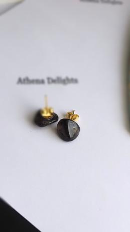 smokey quartz stud earrings