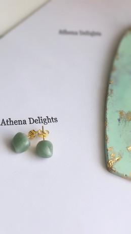 green aventurine crystal earrings