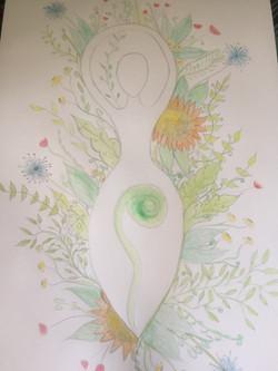 triple goddess nature canvas