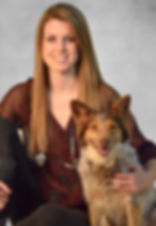 Dr. Kelsey Hogue and her dog, Foxy