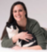 Dr. Michelle Gabel and her cat, Pele.